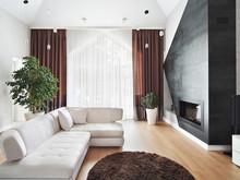Загородный дом «Чистое пространство», гостиная . Фото № 28169, автор Дорофеева Евгения