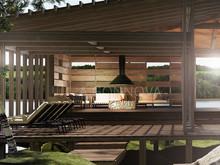 Загородный дом «Lounge-HOUSE», терраса  . Фото № 28420, автор Гоннова Алина