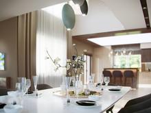 Загородный дом «Липицы», столовая . Фото № 28559, автор Ёхина Елена