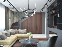 Загородный дом «Дизайн-проект частного дома в Ялте», гостиная . Фото № 28586, автор Дуквен Ольга