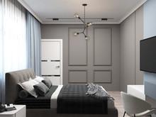 Загородный дом «Дизайн-проект частного дома в Ялте», спальня . Фото № 28580, автор Дуквен Ольга