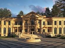 Загородный дом «Загородный дом в Подмосковье», фасад . Фото № 28627, автор Болотный Евгений