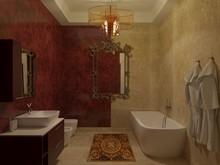 Загородный дом «Частная вилла в Италии», ванная . Фото № 28634, автор Болотный Евгений