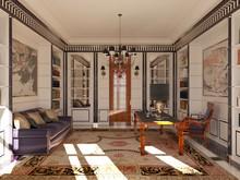 Загородный дом «Загородный дом в Подмосковье», кабинет . Фото № 28642, автор Болотный Евгений