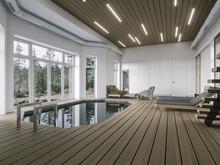 Загородный дом «KITEZHGRAD», бассейн . Фото № 29034, автор Митрошкин Артур