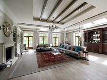 Загородный дом «Загородный дом в Подмосковье», гостиная . Фото № 29122, автор ADWorkshop Архитектурная мастерская