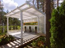 Загородный дом «Охтинский парк», беседка . Фото № 29279, автор DEREVO PARK Студия ландшафтного дизайна