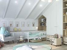 Загородный дом «Cozy dock», детская . Фото № 29375, автор Studio57 Interior Design
