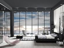 Загородный дом «Black_Sunset», спальня . Фото № 29460, автор Валкина Анна