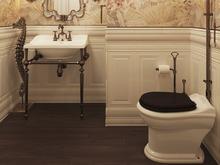 Загородный дом «Будуар русалочки », ванная . Фото № 29507, автор Виноградова Юлия