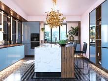 Загородный дом «Современный трехэтажный дом 580 кв. метров в г. Сочи для семьи с двумя детьми», кухня . Фото № 29810, автор Королева Виктория