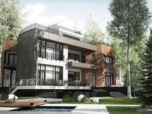 Загородный дом «UEZD», фасад . Фото № 29826, автор Филиппова Янина