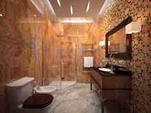 Загородный дом «Интерьер шале на Алтае», ванная . Фото № 29985, автор Качалов Иван
