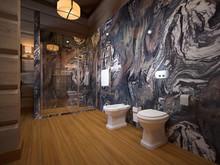 Загородный дом «Шале в охотничьем хозяйстве», ванная . Фото № 30018, автор Качалов Иван