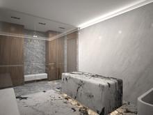 Загородный дом «Интерьеры дома в Сколково», ванная . Фото № 30070, автор Качалов Иван