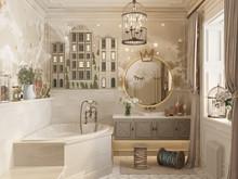 Загородный дом «Дом идеального детства», ванная . Фото № 30109, автор Турова Екатерина