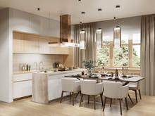Загородный дом «Дом в лесу», кухня . Фото № 30151, автор Мальцева Валерия