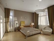 Загородный дом «Дом на Озерной», спальня . Фото № 30371, автор Безирганов Михаил