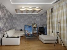 Загородный дом «Дом на Озерной», комната отдыха . Фото № 30375, автор Безирганов Михаил