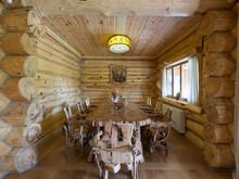 Загородный дом «Дом в рустикальном стиле», столовая . Фото № 30418, автор Серов Егор