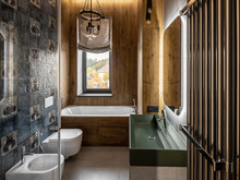 Загородный дом «UI042», ванная . Фото № 30705, автор U-Style