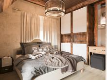Загородный дом «Загородный дом в стиле рустик», спальня . Фото № 30726, автор Корпан Ксения
