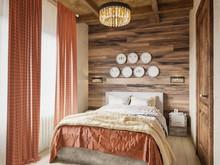 Загородный дом «Загородный дом в стиле рустик», спальня . Фото № 30720, автор Корпан Ксения