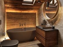 Загородный дом «Дом у Озера», ванная . Фото № 30869, автор Крюков Константин