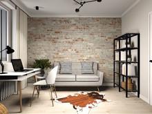 Загородный дом «Дизайн интерьера таунхауса.», кабинет . Фото № 30917, автор Александрова Екатерина