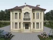 Загородный дом «Дом из дагестанского камня Д-25», фасад . Фото № 30950, автор Абрамова Екатерина