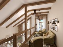 Загородный дом «Дом в стиле шале», холл . Фото № 31156, автор ТАНДЕМ+ Студия Интерьера