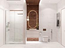 Загородный дом «Дом на Рублёво-Успенском шоссе», ванная . Фото № 31258, автор ТАНДЕМ+ Студия Интерьера
