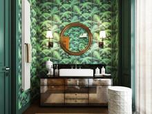 Загородный дом «дизайн загородного дома КП Бристоль», ванная . Фото № 31391, автор Болдырев Артем