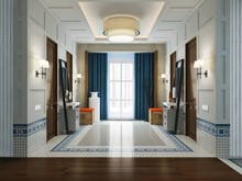 Загородный дом «дизайн загородного дома КП Бристоль», холл . Фото № 31392, автор Болдырев Артем