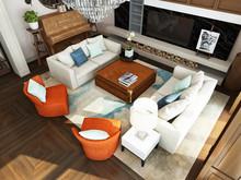 Загородный дом «дизайн загородного дома КП Бристоль», гостиная . Фото № 31389, автор Болдырев Артем
