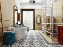 Загородный дом «дизайн загородного дома КП Бристоль», ванная . Фото № 31395, автор Болдырев Артем