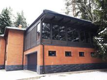 Загородный дом «БИЛЬЯРДНАЯ», фасад . Фото № 31730, автор Гусев Артемий