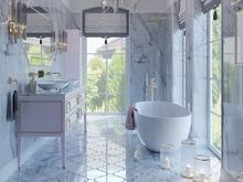 Загородный дом «Особняк в стиле американская классика.», санузел . Фото № 31776, автор Дизайн-бюро  «Лепина и Орлова»