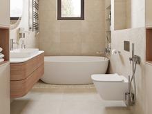 Загородный дом «Простые формы», ванная . Фото № 31920, автор Дикий Николай