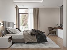 Загородный дом «Простые формы», спальня . Фото № 31918, автор Дикий Николай