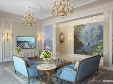 Классический интерьер дома в КП Графские Пруды, фото № 8672, Линия интерьера Студия дизайна