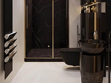 Загородный дом «S073», ванная . Фото № 32077, автор Yousupova