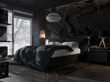 Спальня в темном стиле, фото № 8722, Чесноков Евгений