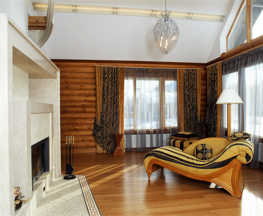Фото гостиная Загородный дом
