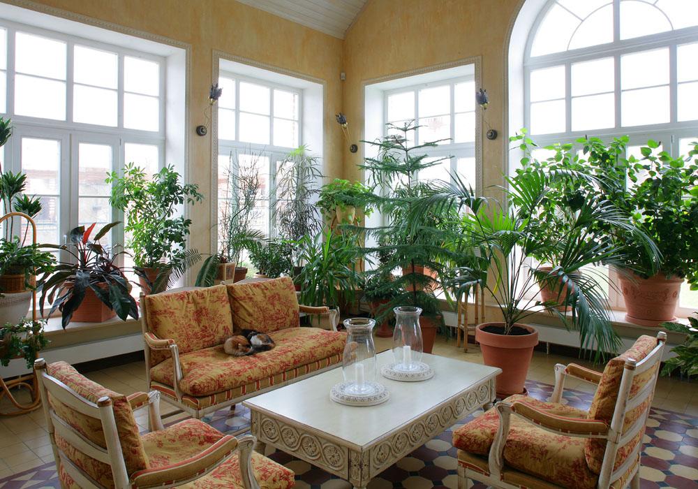 Фото зимний сад Загородный дом