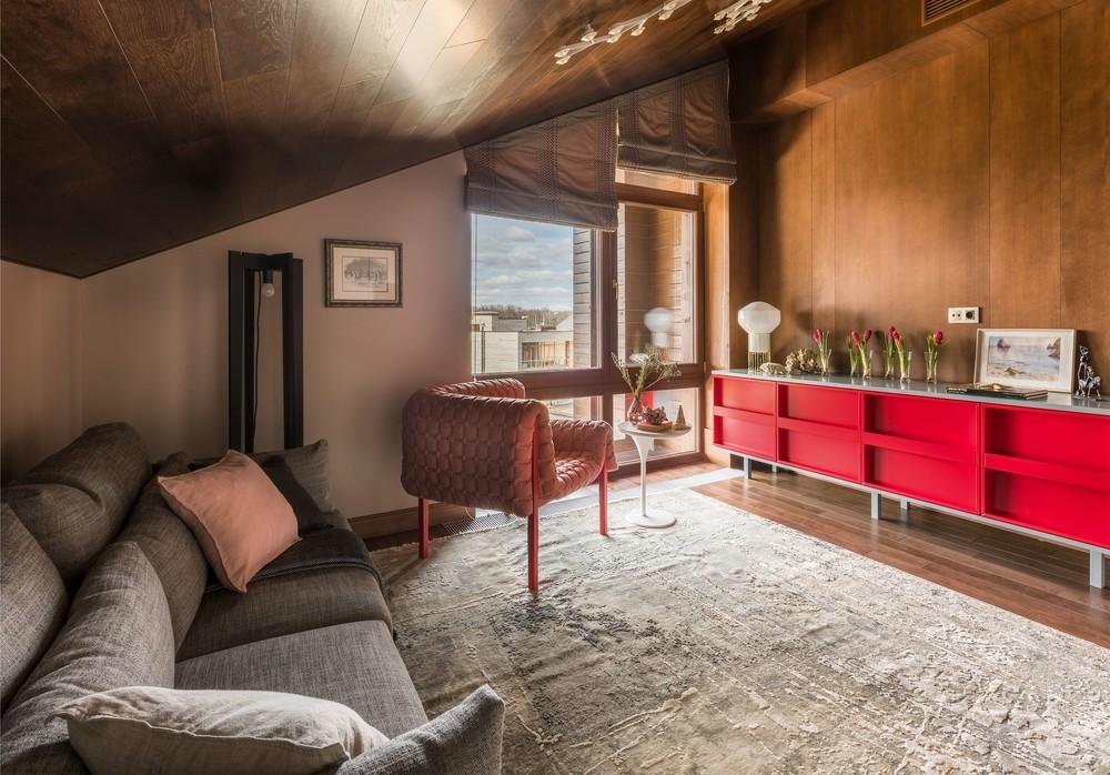 Загородный дом «Исскусство цвета», гостиная, фото из проекта