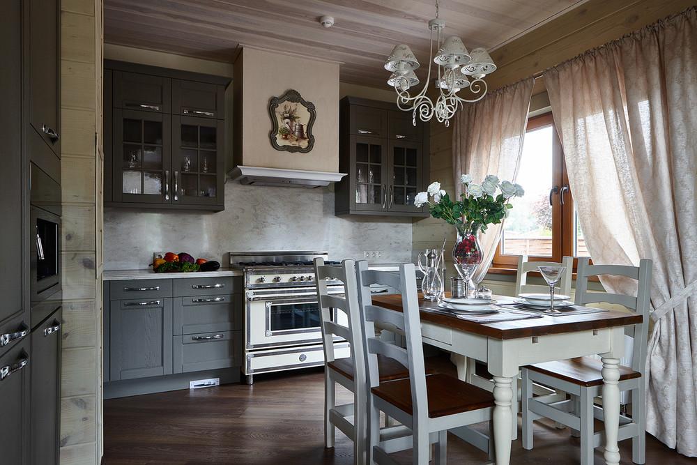 Загородный дом «Дом из бруса Нежность», кухня, фото из проекта