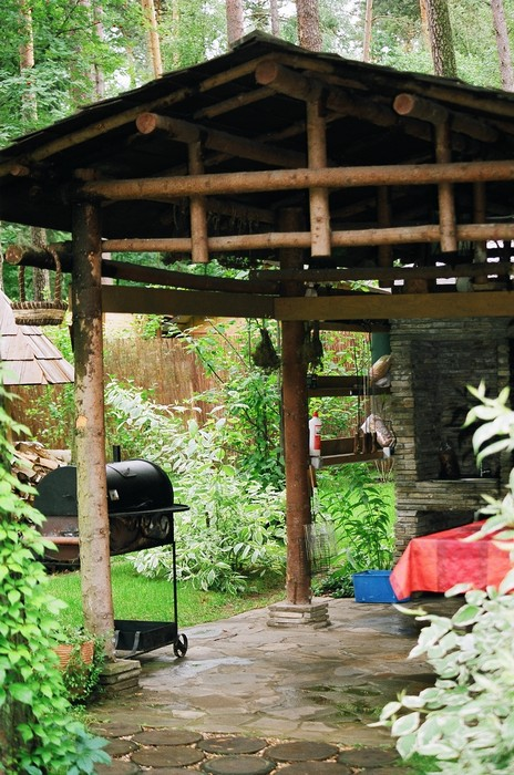 Загородный дом «», барбекю , фото из проекта