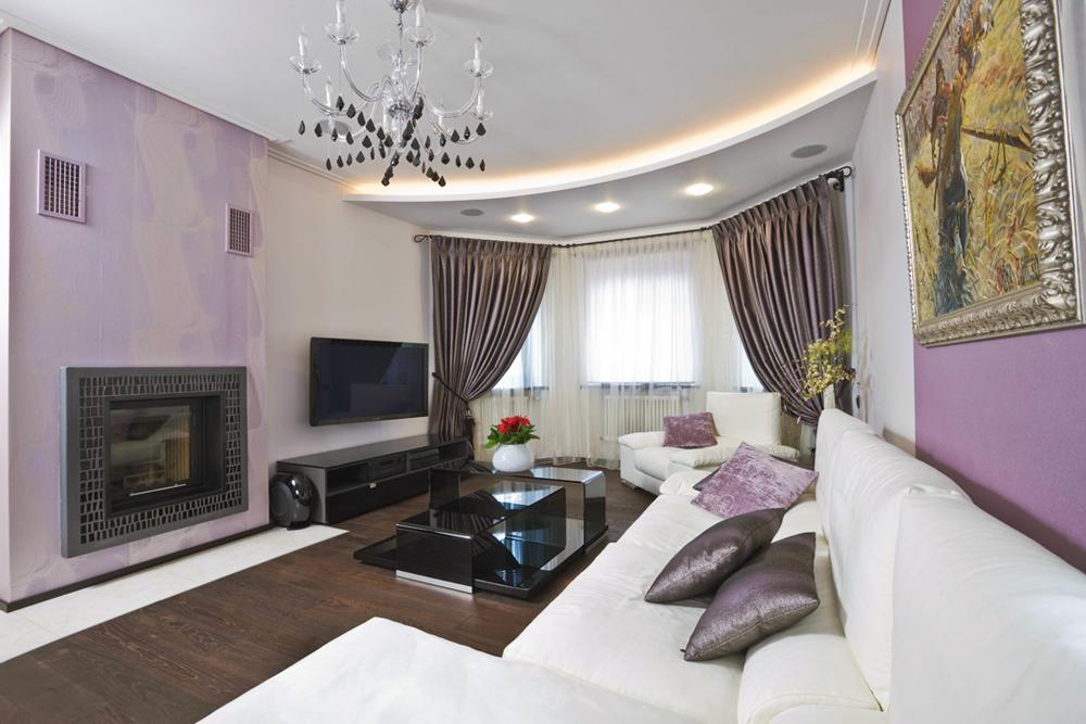 Дизайн гостиной-спальни 18 кв.м