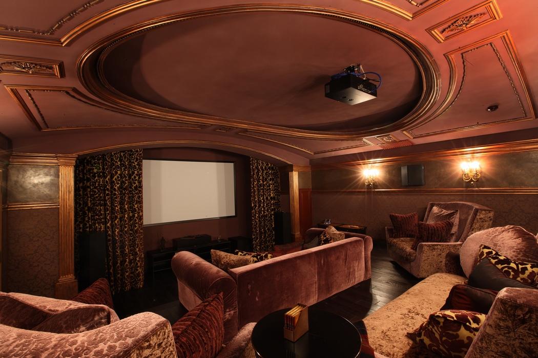 Загородный дом «», домашний кинотеатр, фото из проекта
